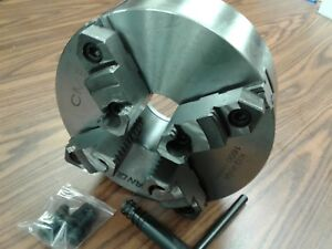 10 4 jaw Self centering Lathe Chuck Top Bottom Reversible Jaws 1004f0 sf new