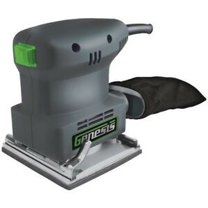 Genesis GPS2303 Palm-Grip 14-Sheet Sander wDust-protected OnOff Switch