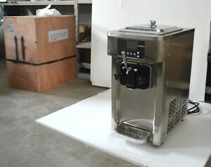 Used Commercial Soft Serve Ice Cream Machine Frozen Yogurt Equipment Auto Clean