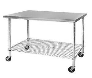 Large Commercial Stainless Steel Work Table 48 X 30 Kitchen Prep