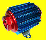 Aluminum Fuel Filter 5 8 In Line Fuel Filter Hot Rod Fits Ford Chevy Sbc Bbc
