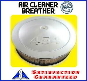 14 Muscle Car 454 Logo Chrome Air Cleaner Breather Washable Filter