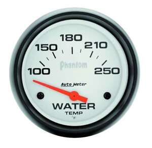Autometer 5837 Phantom Electrical Water Temperature Gauge 2 5 8 Dia White Face