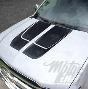 2014 2019 Chevy Silverado Rally Racing Hood Stripes Tailgate Decals Style 1
