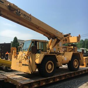 1993 Grove Rough Terrain Crane Model Rt58b