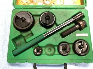 missing Pieces Greenlee 7238sb Slug Buster Knockout Punch Set 1 2 2
