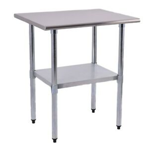 24 X 30 Stainless Steel Work Prep Table Commercial Kitchen Restaurant Silver