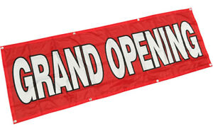 2x6 Ft grand Opening Banner Sign Polyester Fabric Rb
