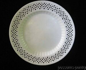 18th C English Leeds Type Creamware Charger Plate Reticulated Rim Cream Ware