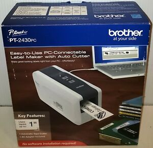 new Brother P touch Pt 2430pc Label Maker Thermal Printer W auto Cutter Ptouch