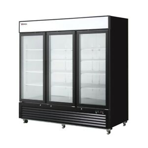 63 Cu Ft Commercial Merchandiser Freezer Display Case 3 Glass Doors