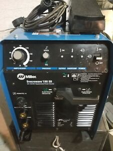 Miller Syncrowave 180 Sd Cc Ac dc Squarewave Arc Welding Supply Tig Torch