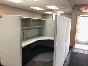 6ft X 8ft Cubicles Partitions By Haworth Office Furniture In Gray