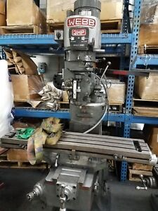 Webb Model 2vs Knee Mill 3hp 4 200 Rpm