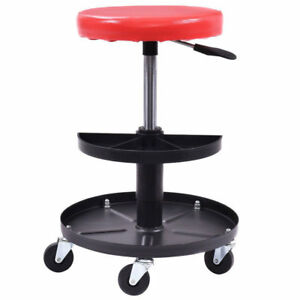 Red Rolling Pneumatic Creeper Tool Shop Garage Mechanic Repair Seat Adjustable