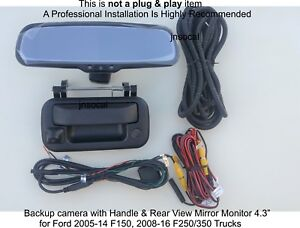 Ford F150 F250 F350 Backup Camera Oe Fit Includes 4 3 Lcd Tailgate Camera