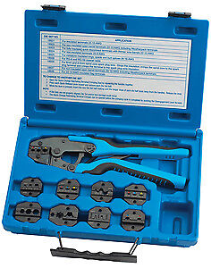 S G Tool Aid 18980 Master Ratcheting Terminal Crimper Set New