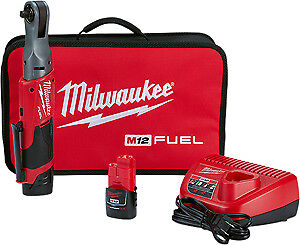Milwaukee Electric Tool 2557 22 M12 Fuel 3 8 Ratchet With 2 Battery Kit