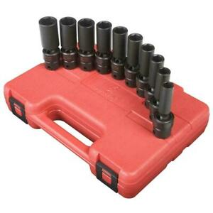 Sunex Tools 3660 10 Piece 3 8 Drive Deep Swivel Socket Set 10 19mm New