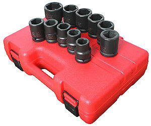 Sunex Tools 4682 11 Piece 3 4 Drive Truck Impact Socket Set Sae Sizes