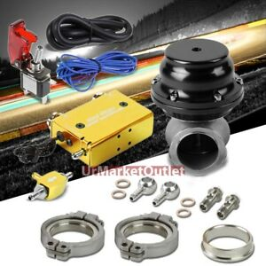Gold Dual Stage Electronic Turbo Charger Boost Control black External Wastegate