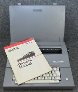 Smith Corona Deville 450 Portable Electronic Typewriter With Cover