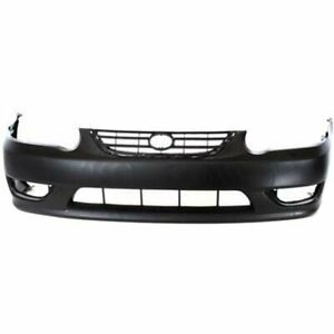 Bumper Cover For 2001 02 Toyota Corolla Front Plastic Primed W Emblem Provision