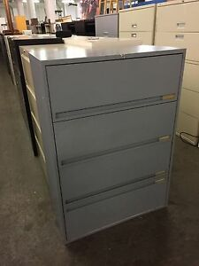 4dr 36 w X 18 d X 51 h Lateral File Cabinet By Storwal Office Furn W Lock