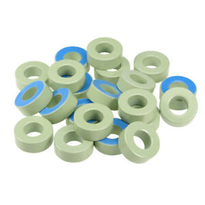 50pcs 23 8x 47 X 18 2mm Ferrite Ring Iron Powder Toroid Cores Light Green Blue