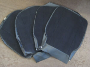 Mg New Pair Of Mgb Gt Black Full Cloth Seat Cover Kit For Reclining Seats 1973on
