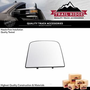 Towing Upper Mirror Glass With Backing Plate Driver Side Left Lh For Gm Truck