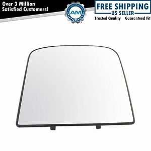 Towing Upper Mirror Glass With Backing Plate Passenger Right Rh For Gm Truck New