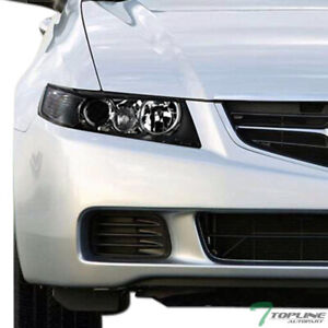 Topline For 2004 2008 Acura Tsx Jdm Black Housing Projector Headlights Signal Nb