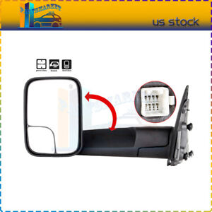 Power Heated Tow Mirrors Left Driver Side For 2002 08 Dodge Ram 1500 2500 3500