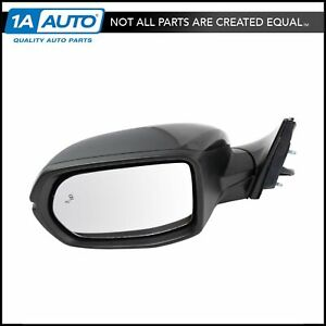 Mirror Power Heated Signal Blind Spot Detect Smooth Black Driver Left Lh For Crv