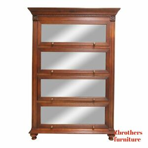 Ethan Allen British Classics Barrister Bookcase Library Book Shelf