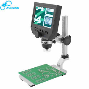 Digital Microscope 1 600x 4 3 Lcd Screen For Pcb Soldering Tool With Stage