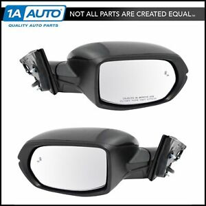 Mirror Power Heated Signal Blind Spot Detect Smooth Black Pair Set Of 2 For Crv