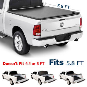 Tri Fold 5 8ft Truck Tonneau Cover For 2009 2018 Dodge Ram Bed Without Ram Box