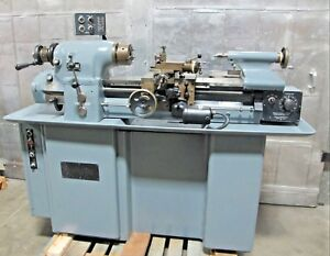 Hardinge Hlv h High Precision Tool Room Lathe 11 X 18 Taper Attachment Tooling