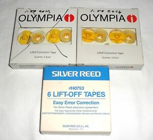 Lot Of 12 Vtg Correction Tapes Olympia 79363 Silver Reed h0753 Penman
