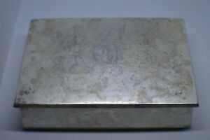 Sterling Silver William B Kerr Wood Lined Vanity Box Cigarette Box Trinket Box