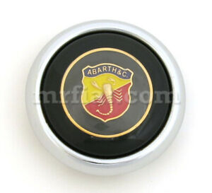 Fiat 500 600 Abarth Complete Black Horn Button New