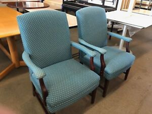 Lot Of 2 High Back Guest side Chairs By Paoli Office Furniture