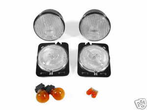 Depo Clear Bumper Signal fender Side Marker Light For 2007 2013 Jeep Wrangler Jk