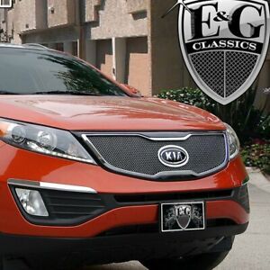 For Kia Sportage 2011 2013 E G Classics 1 Pc Black Ice Fine Mesh Main Grille