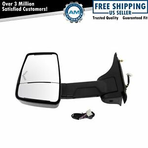 Tow Mirror Power Heated Led Signal Smooth Black Driver Side Left Lh For Gm Van