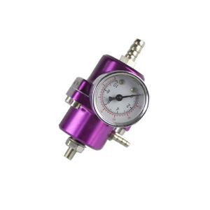 Purple Jdm Adjustable 1 To 140 Psi Fpr Fuel Pressure Regulator Kit With Gauge