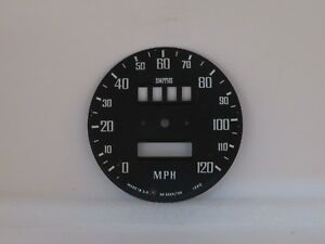 Speedometer Dial Face Plate Smiths Brand Fits Mgb W Overdrive Sn5226 08