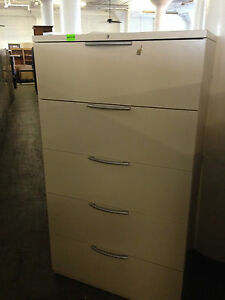 5dr 36 w X 19 d X 63 1 2 h Lateral File Cabinet By Haworth W Lock